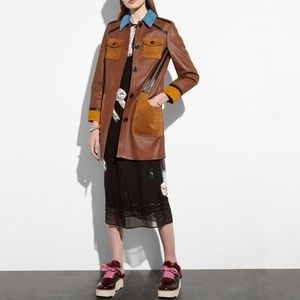 Coach 1941 Runway Leather Jacket with Suede Detail
